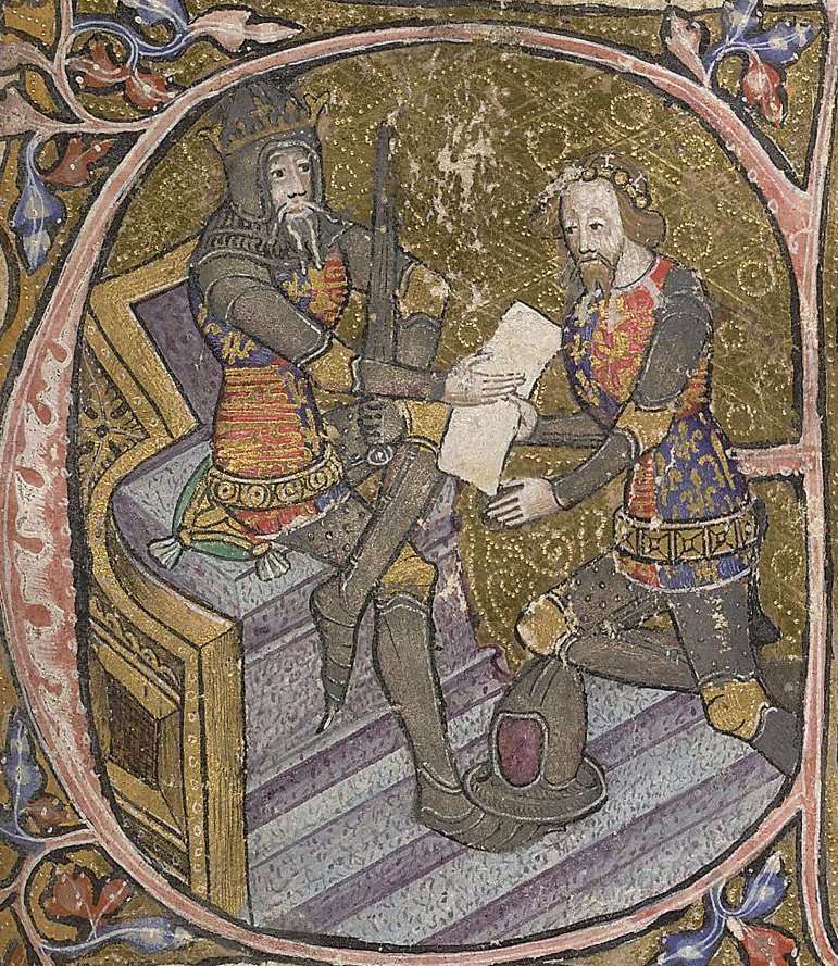 Edward III and his son Edward, the Black Prince